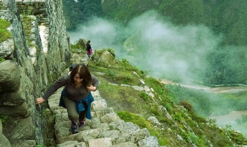 Final stairs in Huayna Picchu