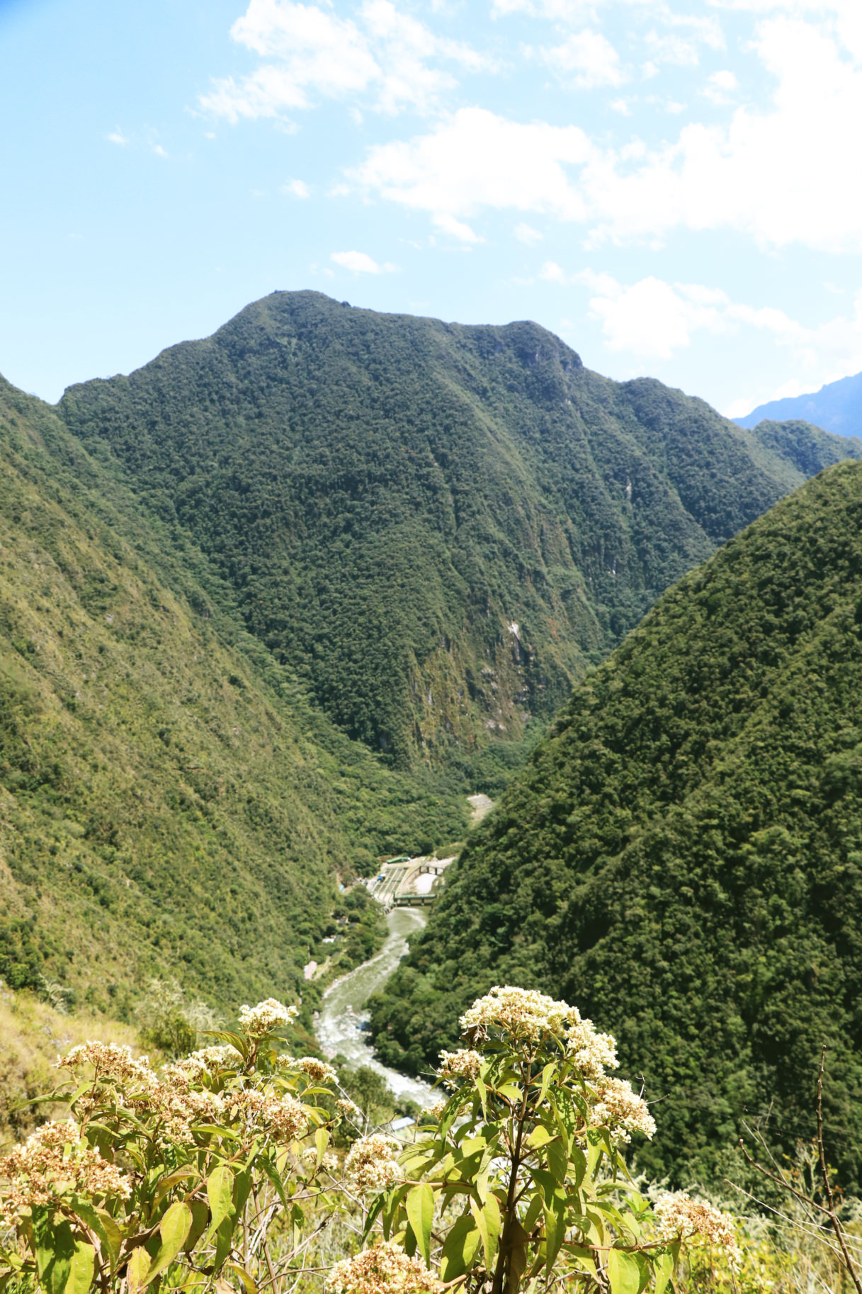 View of the Urubamba River from the Inca Trail Express