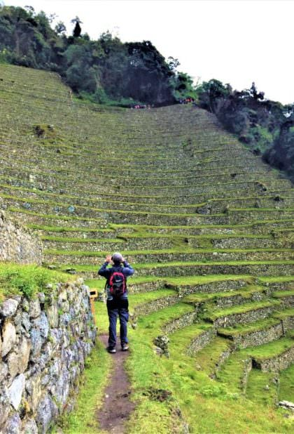 Agricultural terraces in the Inca Trail
