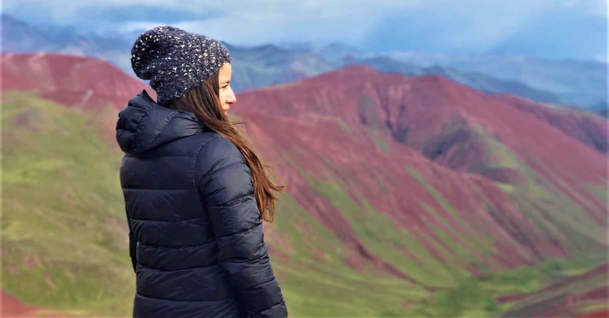 View of teh red valley, Rainbow Mountain