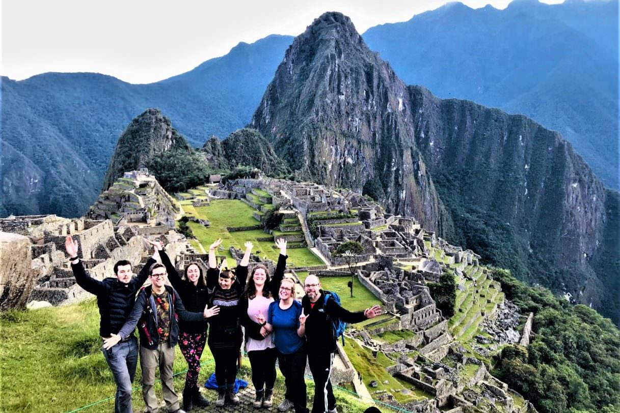 Arriving to Machu Picchu after a long day hike