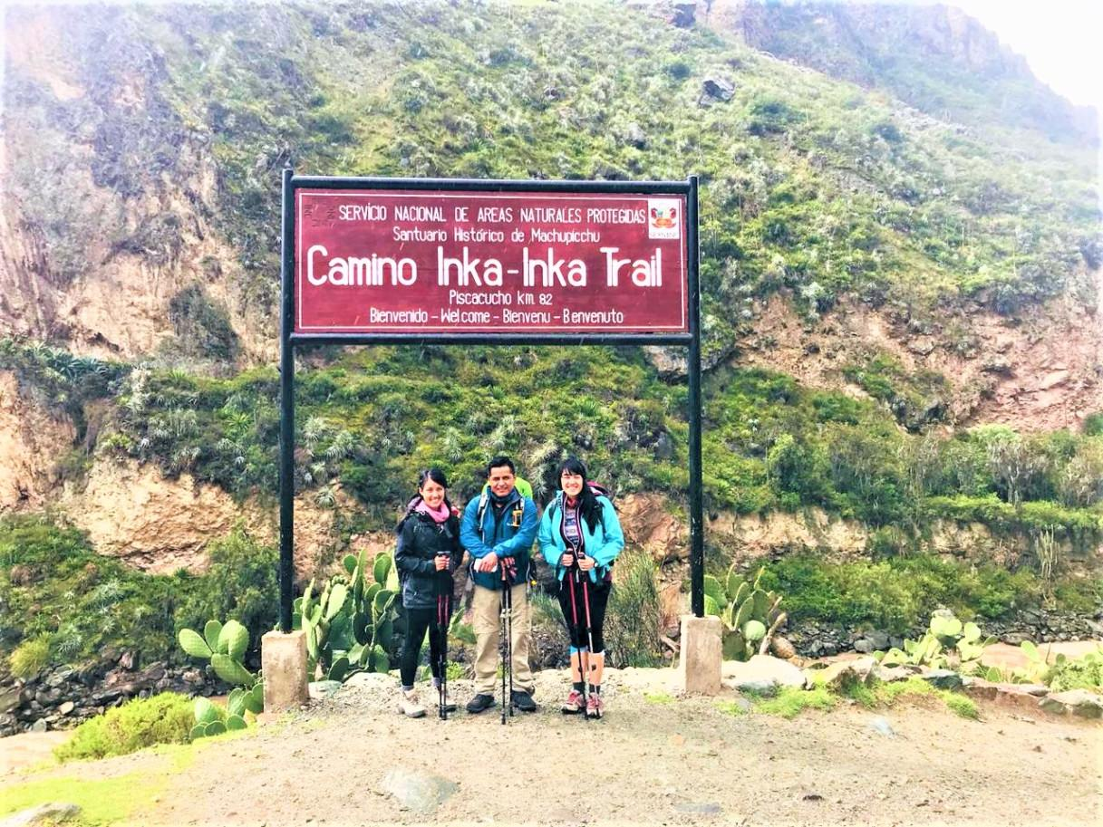 Km 82, start f the Inca Trail