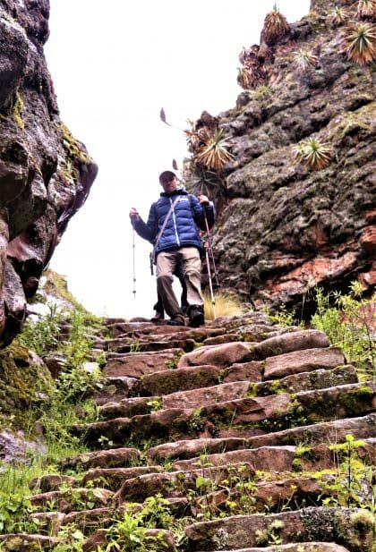Alternative Inca Trail stairs