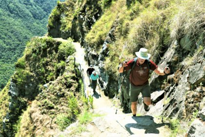 Narrow paths on the Inca Trail 2 days